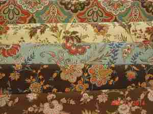 Fabrics for Broiderie Perse Flowers