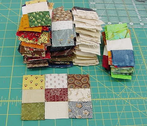 Sample 9 Patch and the Stack of Strips