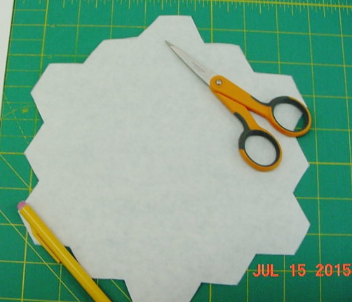 Freezer Paper to Stabalize  Block Back