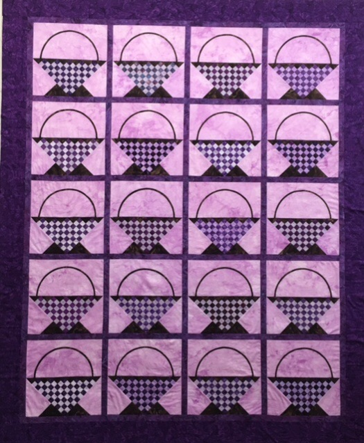 Empty Purple Baskets