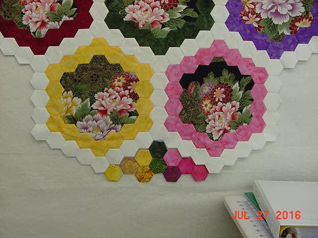 Brinton Hall Medallion Bottom Hexagons